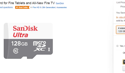 Deal: Amazon selling SanDisk 128 GB microSD card for $32.99 (35% off)