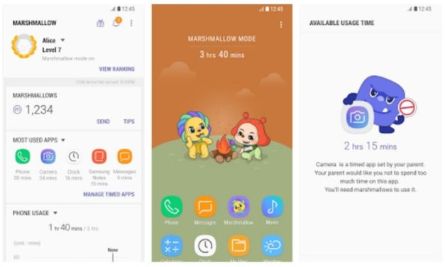 Samsung Marshmallow offers parental controls and teaches proper phone usage