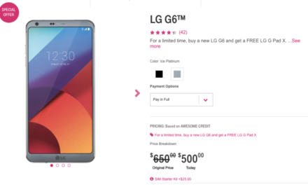 Deal: Snag the LG G6 from T-Mobile for just $500 without a contract